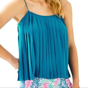NWOT Lilly Pulitzer Rein Pleated Blue Cami